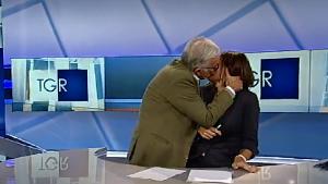 Gene Bacia Maria Grazia Lombardi durante TG 3 Puglia