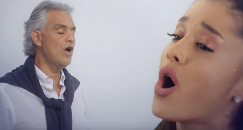 """Andrea Bocelli Duetta con Ariana Grande in """"Cinema"""""""