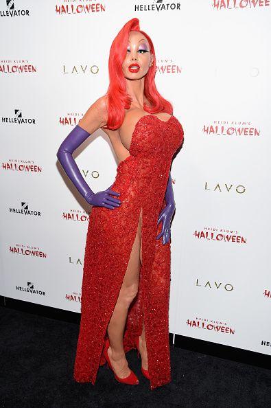 Heidi Klum Diventa Jessica Rabbit ad Halloween