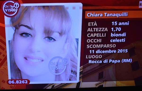 Chiara Tanaquilli ritrovata dopo fuga da casa famiglia