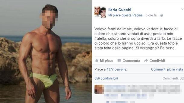 Cucchi, sorella pubblica foto carabiniere indagato pestaggio fratello