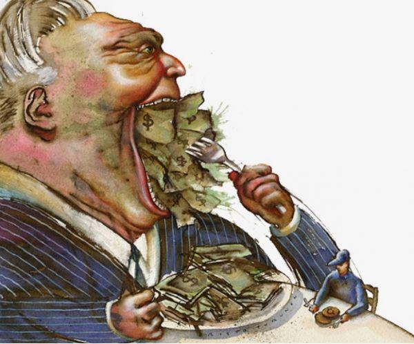 1% ricchi ha in mano ricchezza simile a quella del restante 99%