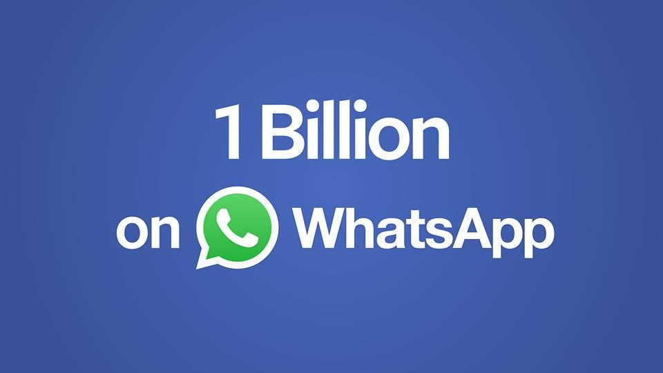 WhatsApp Record: 1 Miliardo di Utenti
