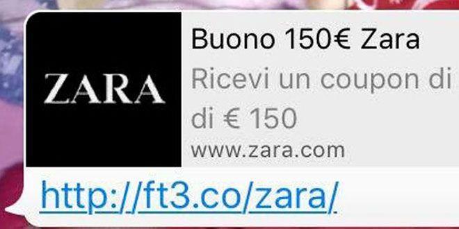 WhatsApp: attenzione al buono Zara