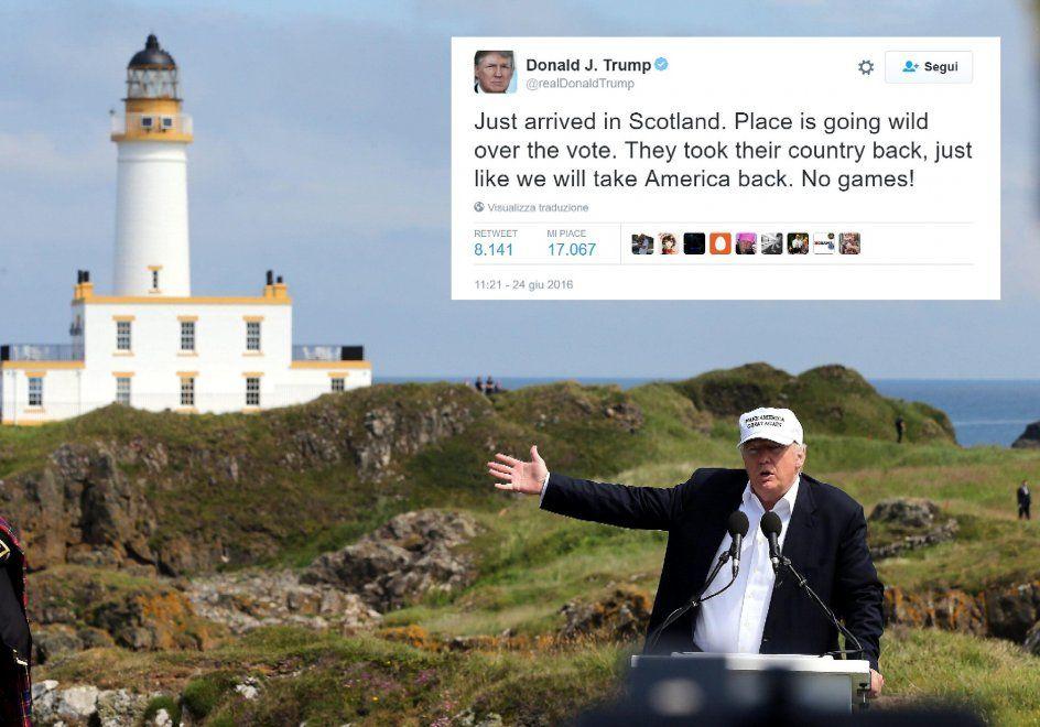 Brexit giusta per Donald Trump