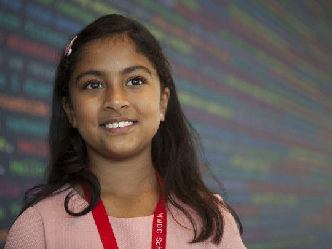 Anvitha Vijay crea app a 9 anni