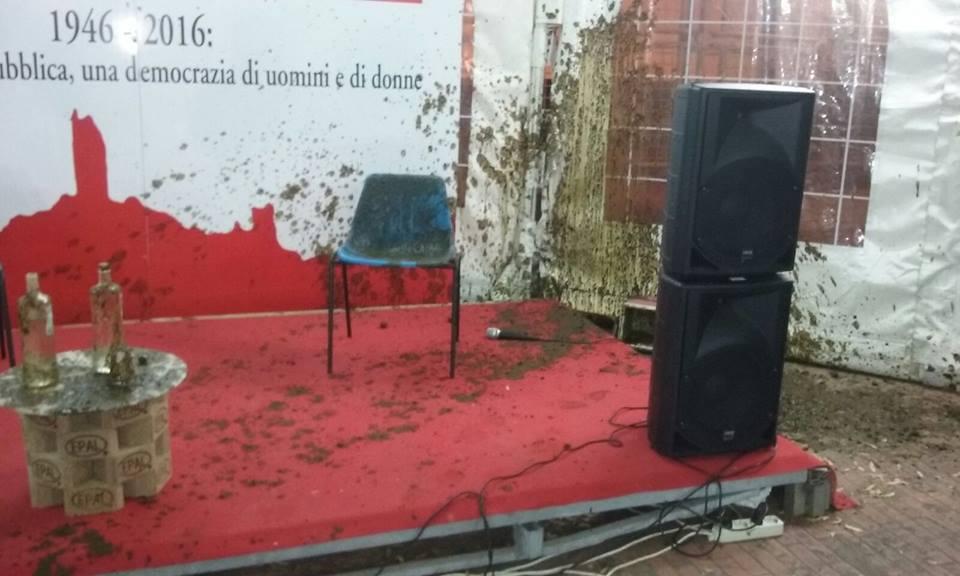 Enrico Rossi aggredito con letale a San Miniato