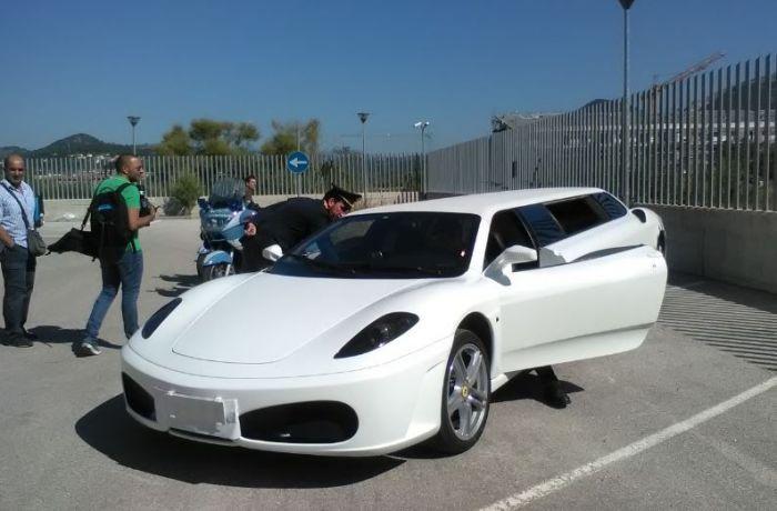 Ferrari tarocca sfreccia a Isernia: sequestrata dalla Polstrada