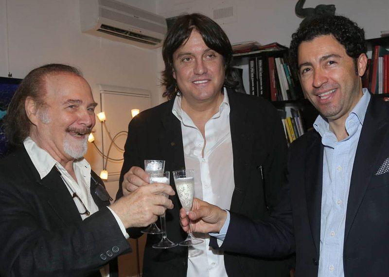 Cristiano De André presenta mostra durante mostra curata da Vittorio Sgarbi
