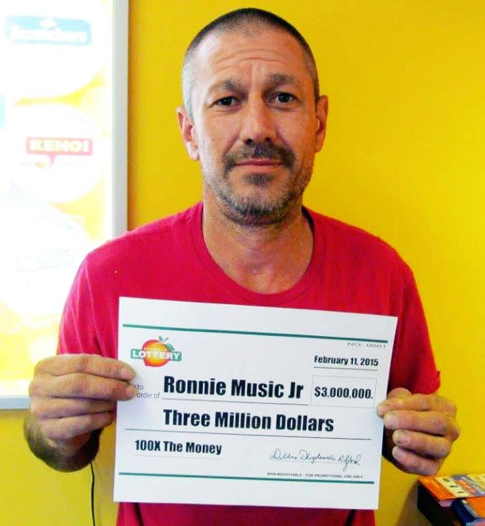 Ronnie Music Jr vince 3 milioni e investe soldi in crystal meth