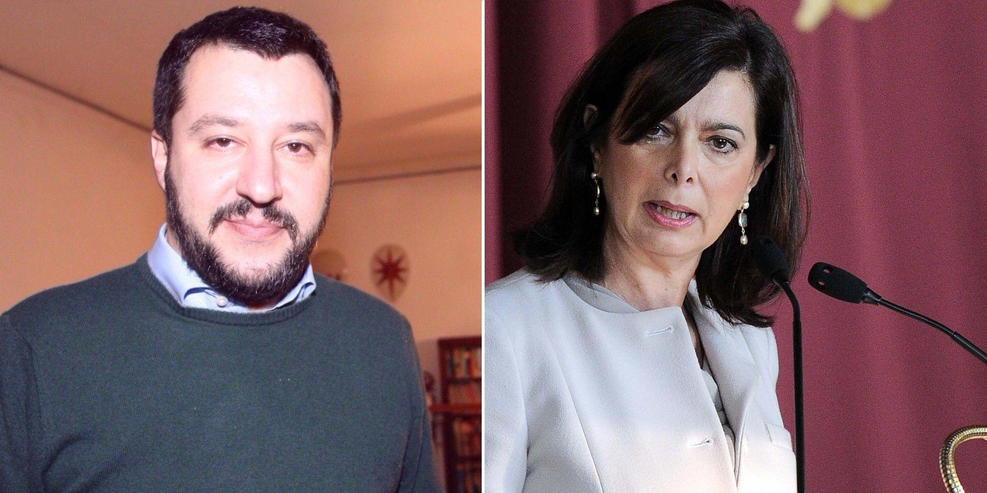 Salvini offende Boldrini con bambola gonfiabile: polemiche