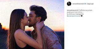 Andrea Cerioli e Arianna Cirrincione dediche d'amore sui social