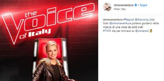 Simona Ventura The Voice of Italy, il messaggio su Instagram